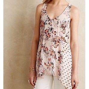 {Vanessa Virginia} Floral/Polka Dot Garden Top